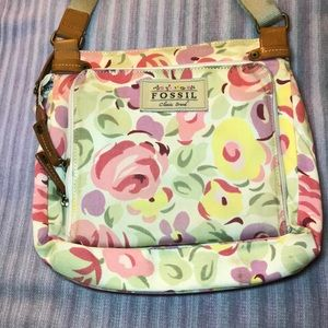 Vintage FOSSIL Floral Crossbody Purse Bag